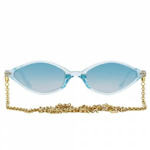 Linda Farrow Alessandra Rich 3 C5 Angular Sunglasses