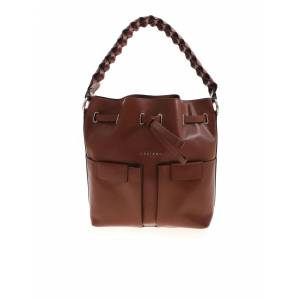 Orciani Tessa Bag In Leather Color - Brown - Size: UNI