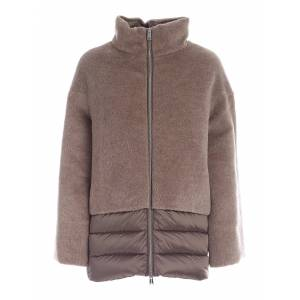 ADD Wool And Mohair Detail Down Jacket In Brown - Brown - Size: IT 42