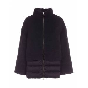 ADD Wool And Mohair Detail Down Jacket In Black - Black - Size: IT 46