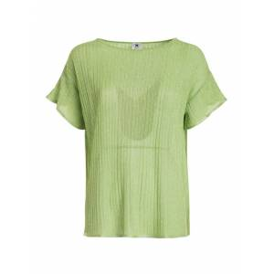 M Missoni Ribbed T-Shirt In Green - Green - Size: Extra Small