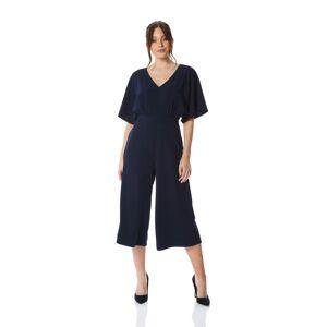 Roman Originals Plain Wrap Culotte Jumpsuit