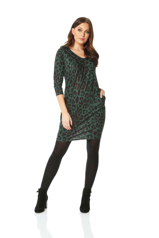 Roman Originals Animal Leopard Print Slouch Dress