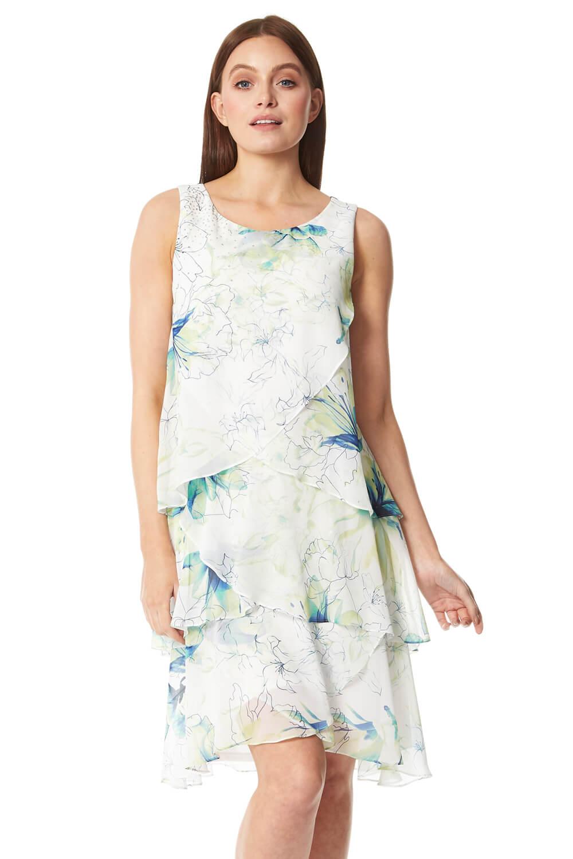 Roman Originals Floral Printed Layer Dress