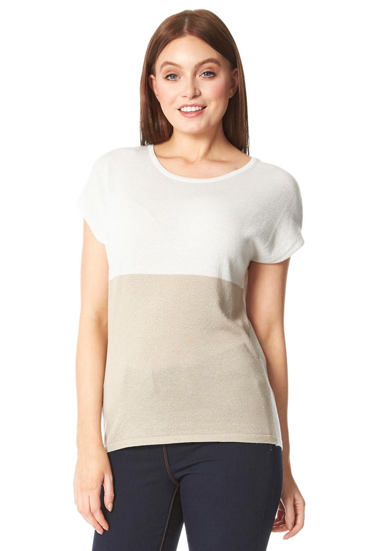 Roman Originals Colour Block Knit T-Shirt