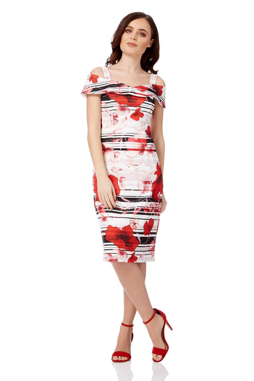 Roman Originals Cold Shoulder Poppy Dress