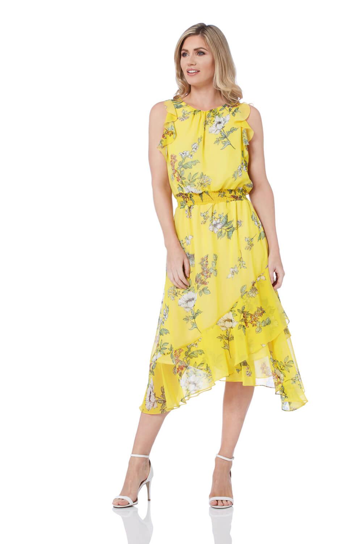 Roman Originals Floral Frill Midi Dress