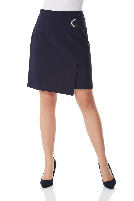 Roman Originals Eyelet Detail Wrap Skirt