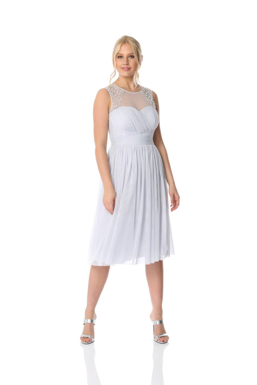 Roman Originals Bead Embellished Knee Length Dress