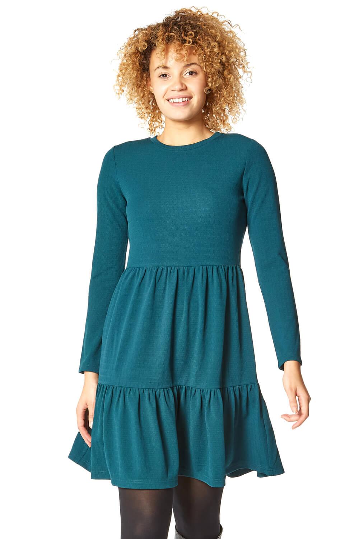 Roman Originals Tiered Long Sleeve Dress