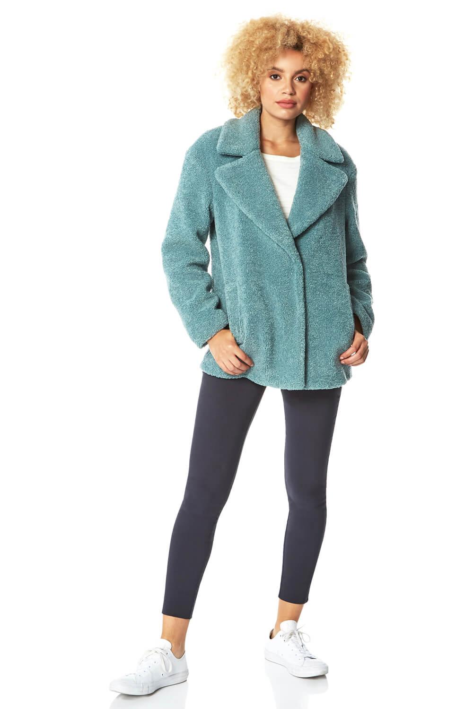 Roman Originals Short Soft Faux Fur Teddy Coat