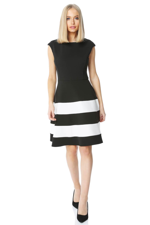 Roman Originals Colour Block Fit And Flare Dress