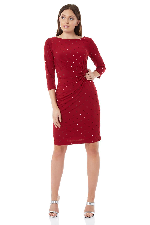 Roman Originals Embellished Twist Waist Dress