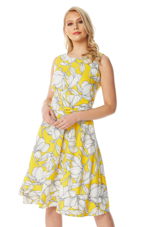 Roman Originals Floral Tie Waist Dress