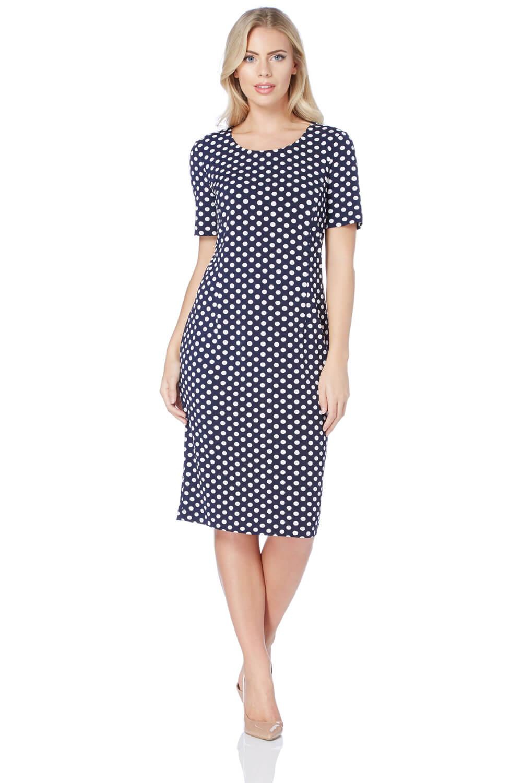 Roman Originals Polka Dot Short Sleeve Dress