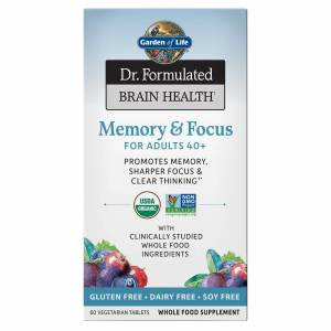 Garden of Life Brain Health Organic Memory - Adults 40+ - 60 Tablets
