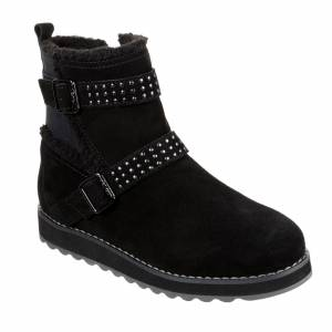 Skechers Keepsakes Mid Calf Double Buckle Boot with Studs