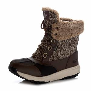 Skechers Textile & Leather Lace Up Boot