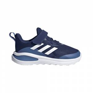 adidas Infant FortaRun Elastic Lace Top Strap Running Shoes Size: UK 3c, Colour: Blue