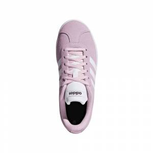adidas VL Court 2.0 Girls Shoes Size: UK 5, Colour: Pink