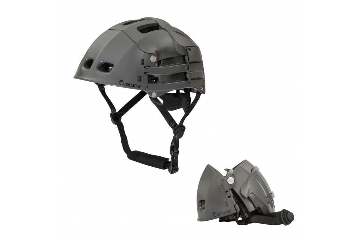 Overade Plixi FIT Folding Helmet  - GREY - Size: Small