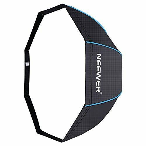 Neewer 120cm Octagonal Softbox Umbrella with Blue Edges and Carrying Bag for Portrait or Product Photography, Suitable for Canon Nikon Sony Speedlite, Studio Flash (Black/Blue) - Very Good