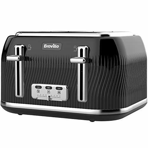 Breville VKT890 Flow 4-Slice Toaster with High-Lift & Wide Slots, Black - Like New