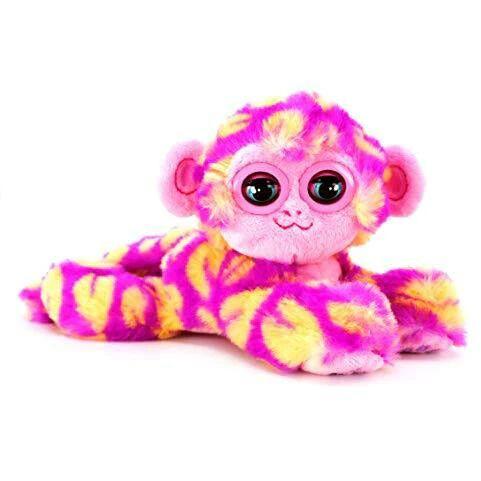 BANDAI CE80083 Nuzzy Luvs Snuggler Interactive Pet Soft Toy (Pink and Orange Monkey) - Like New