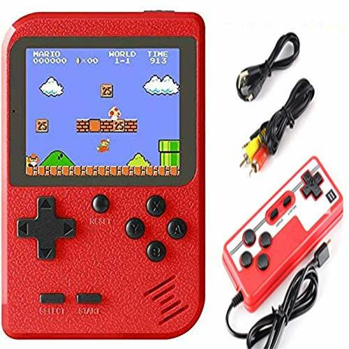 Malidily Handheld Game Console, Retro Game Console with 400 Classic Games, Mini Classic Game Console Supporting 2 Players and TV Connection, Gift for Kids and Adult - Like New