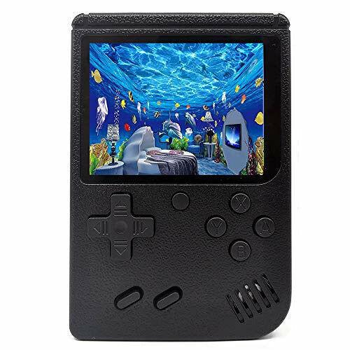 O RLY 500 in 1 Retro game console, Retro FC Plus Game Portable Handheld Video Game Player Classic mini (Black) - Open Box