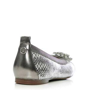 Moda In Pelle Fizzi Pewter - Snake Leather 39 Size: EU 39 / UK 6