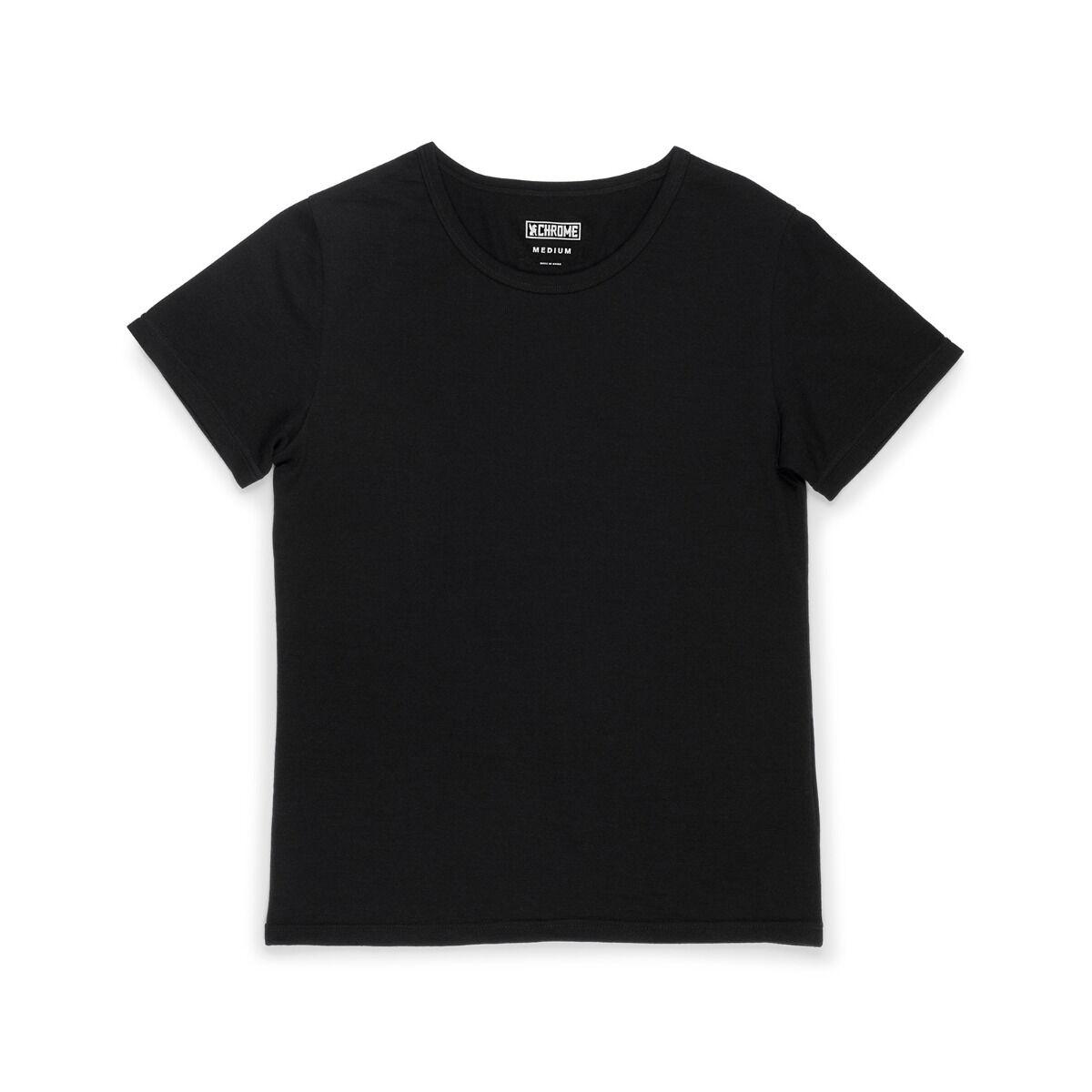 Chrome Industries Women's Merino Short Sleeve Tee-Black-L