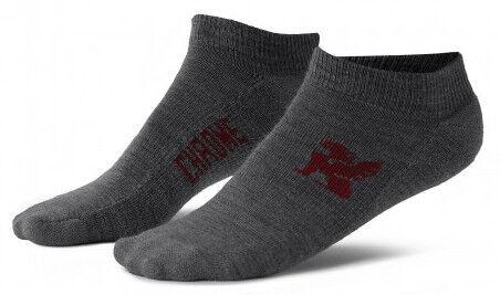Chrome Industries No Show Merino Socks-S-Grey