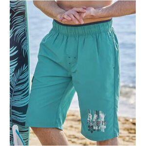 Atlas for Men Men's Turquoise Swim Shorts  - GREEN - Size: L