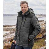 Atlas for Men Men's Dual-Colours Sports Puffer Jacket  - GREY - Size: S