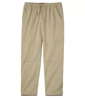Atlas for Men Men's Casual Beige Trousers  - BEIGE - Size: XXL