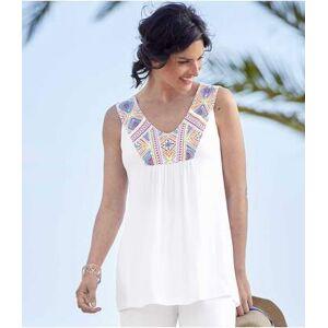 Atlas for Men Women's Casual White Vest Top  - WHITE - Size: 24-26