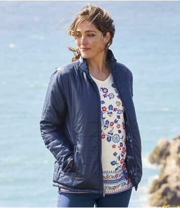 Atlas for Men Women's Water-Repellent Reversible Puffer Jacket - Navy  - NAVY BLUE - Size: 24-26