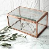 Treat Gifts Personalised Rose Gold Glass Jewellery Box