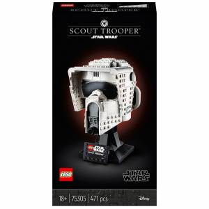 Lego Star Wars: Scout Trooper Helmet Set for Adults (75305)