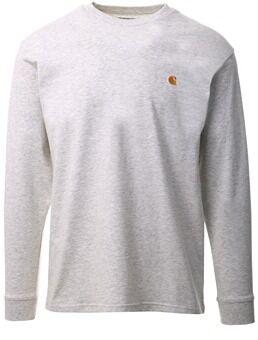Carhartt Ash Heather / Gold L/S Chase T-Shirt  - Size: Medium