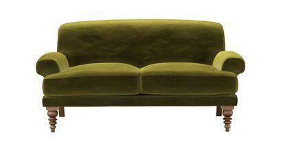 Saturday 2 Seat Sofa in Olive Cotton Matt Velvet