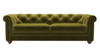Patrick 3 Seat Sofabed in Olive Cotton Matt Velvet