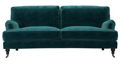 Bluebell 3 Seat Sofa (breaks down) in Jade Smart Velvet