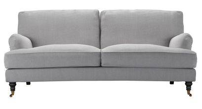 Bluebell 3 Seat Sofa (breaks down) in Cobble Brushed Linen Cotton