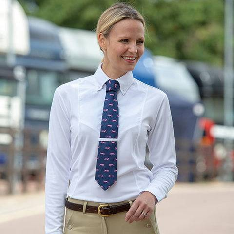 Shires Equestrian Shires Tie Long Sleeve Show Shirt Colour White Size UK 10 (S)