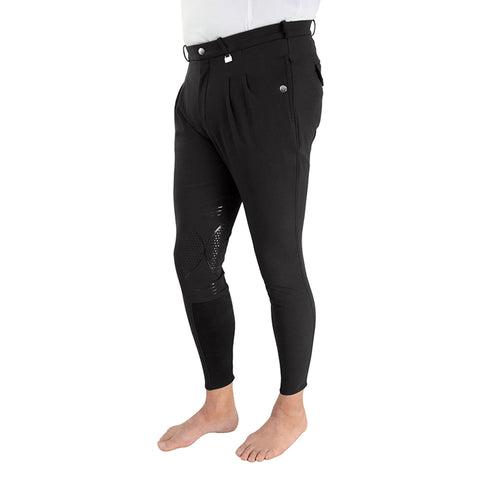 "HyPERFORMANCE Men's Harrogate Silicone Knee Patch Breeches Colour Beige Size 28"""