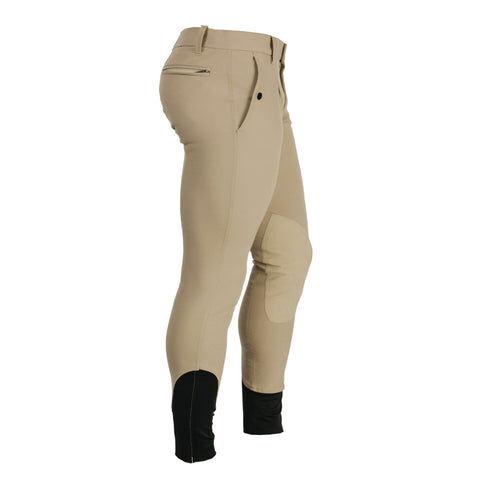 """Horseware Men's Woven Alos Knee Patch Breeches Colour Beige Size 32"""""""