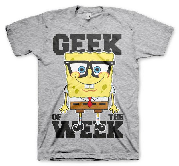 GeekGear Geek Of The Week T-Shirt Heather-Grey 12Years-YXL