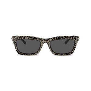 Michael Kors rectangular frame leopard print sunglasses - Gold -Female